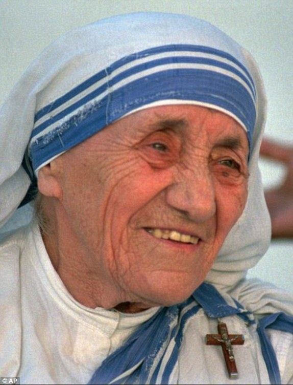 ... Mother Teresa. She donates the $192,000 award money to the